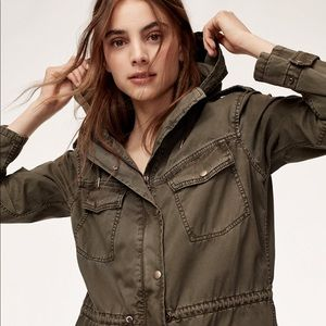 Aritzia NWOT trooper jacket in army green